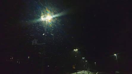 Street lamp in winter by RedstoneArmy