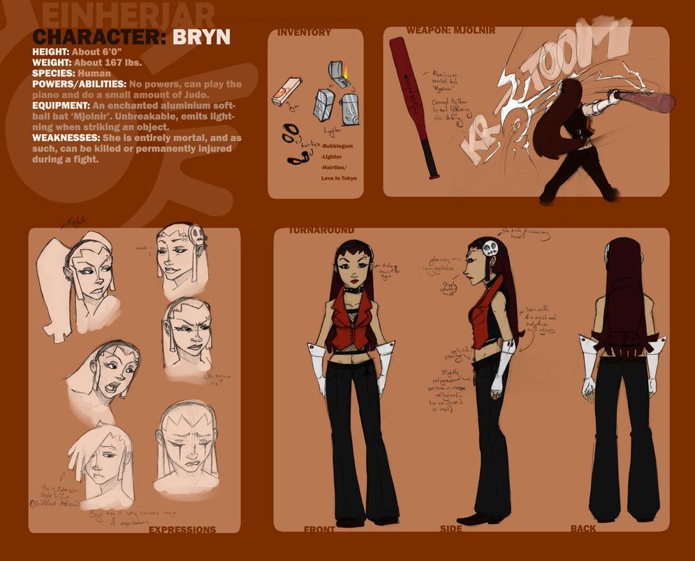 Character Sheet: Bryn by Skarita