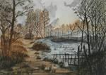 Velen - Witcher 3 watercolor landscape