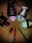 Green Day and My Chemical Romance Shoes