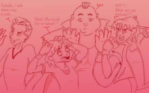 Bad boys... in pink by Kassak