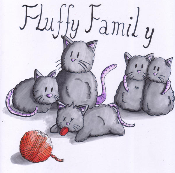Fluffy Family by Thurosis