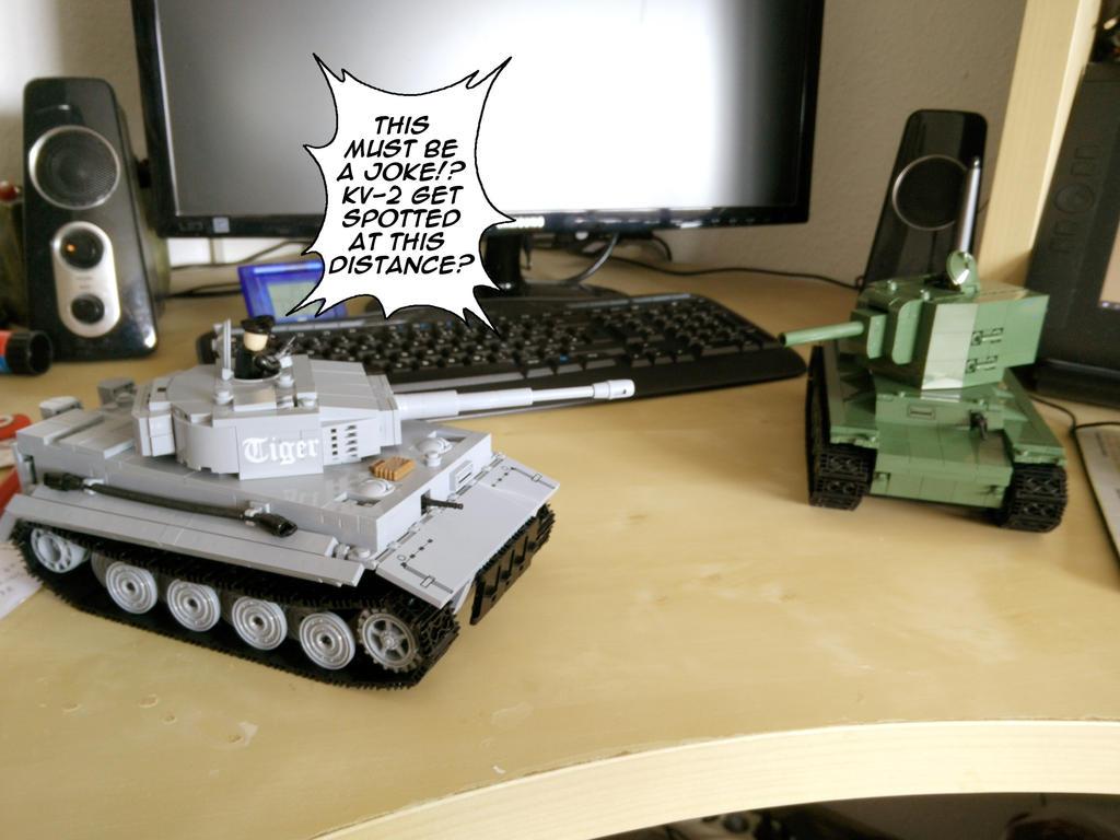 Tiger vs KV-2 by Thurosis