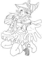 Dark-Magician-Miaka-Girl-outline