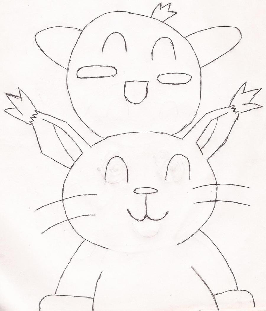 Kirby and Gatomon by Darkgatomon12