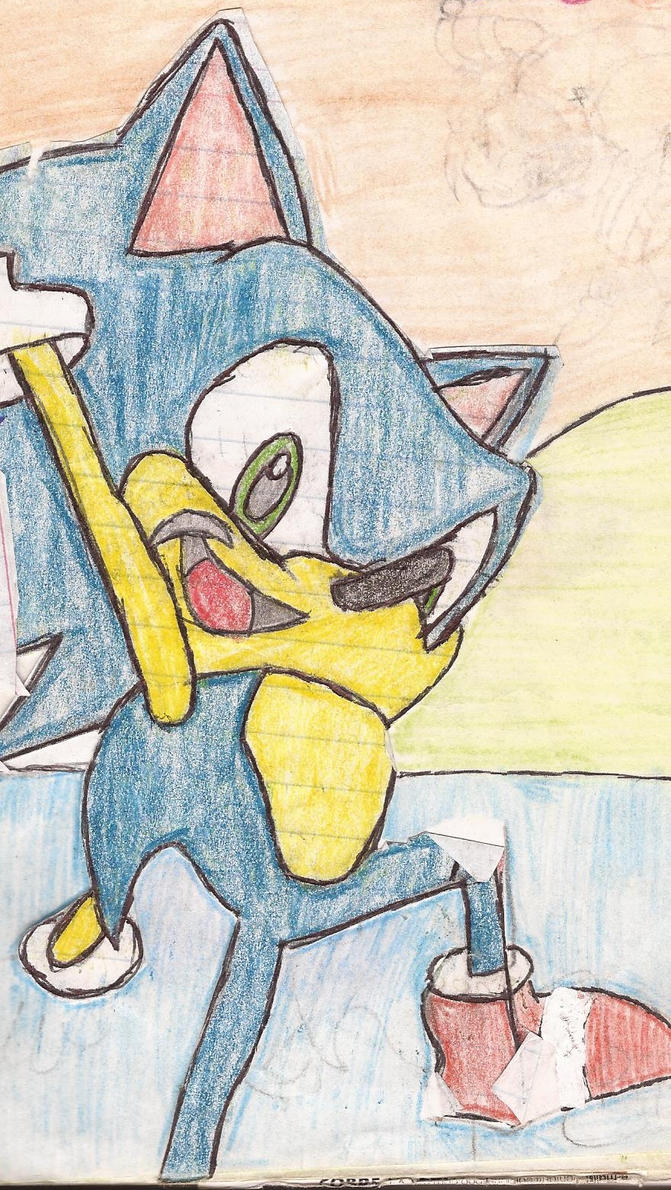 Sonic the hedgehog by Darkgatomon12