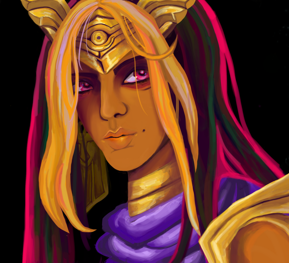 Atem in Thought by archangelarts