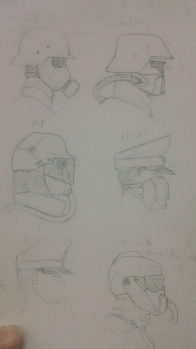 Futuristic NSWP Military Society head attire