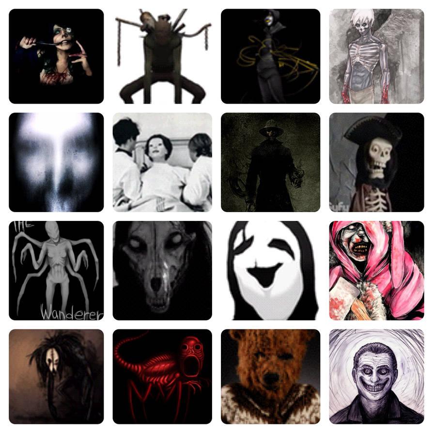 16 Underrated Creepypasta characters by JOSHRAMBO123 on DeviantArt