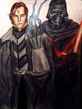 Darth Caedus (Jacen Solo) and Kylo Ren (Ben Solo)