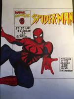 Spider-Man comic drawing  by JOSHRAMBO123