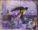 Art Journal - Purple Bird