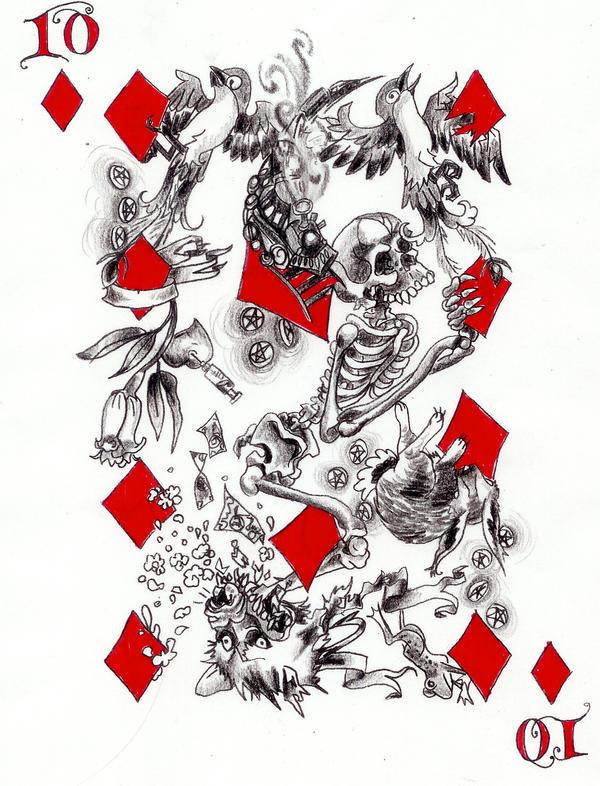 diamond card tattoo