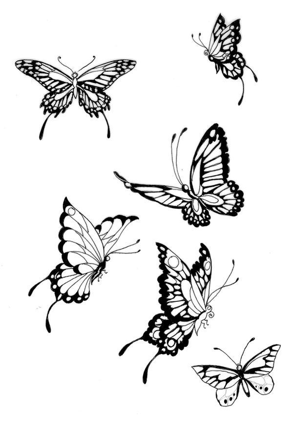 One Line Ascii Art Butterfly : Butterflies lines by koshii on deviantart