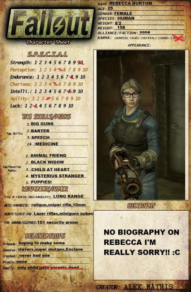 Fallout: Rebecca Burtom
