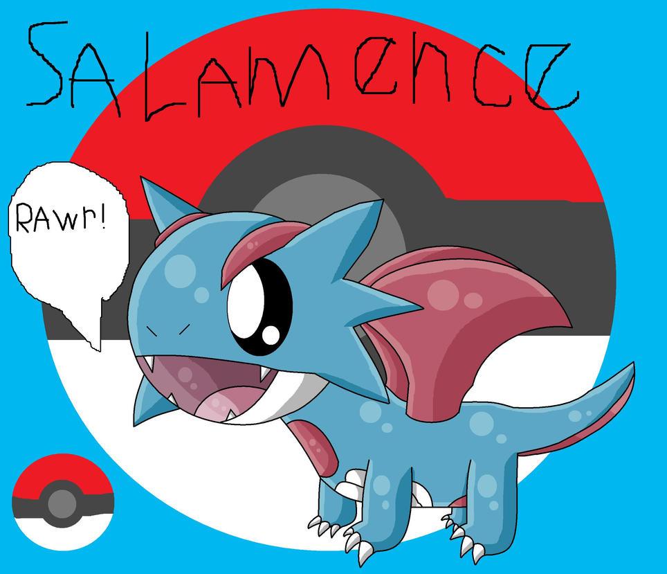 Chibi Salamence by pokemonlpsfan