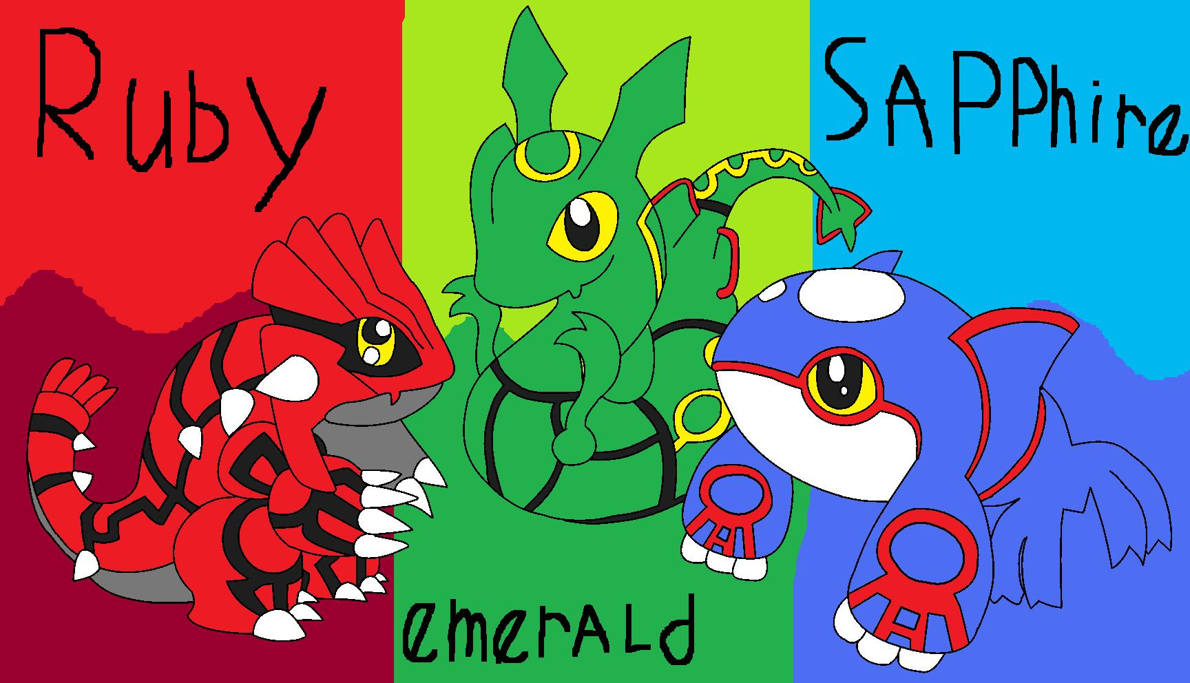 Groudon Kyogre And Rayquaza Chibi By Pokemonlpsfan