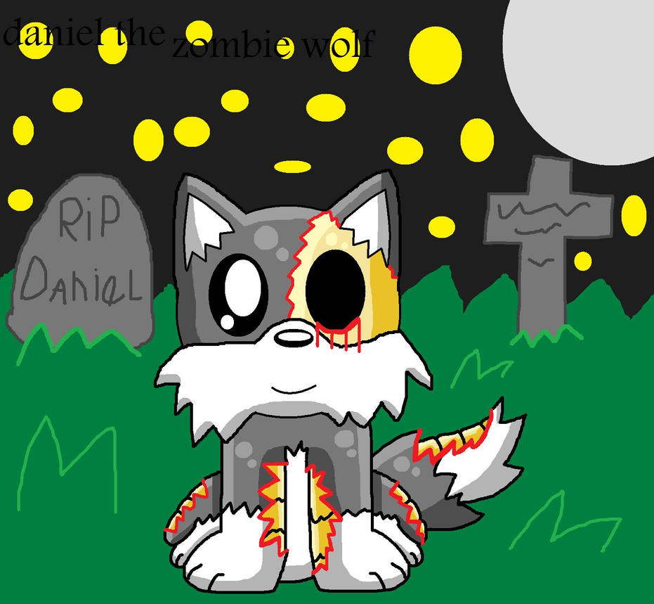 Daniel The Zombie Wolf by pokemonlpsfan