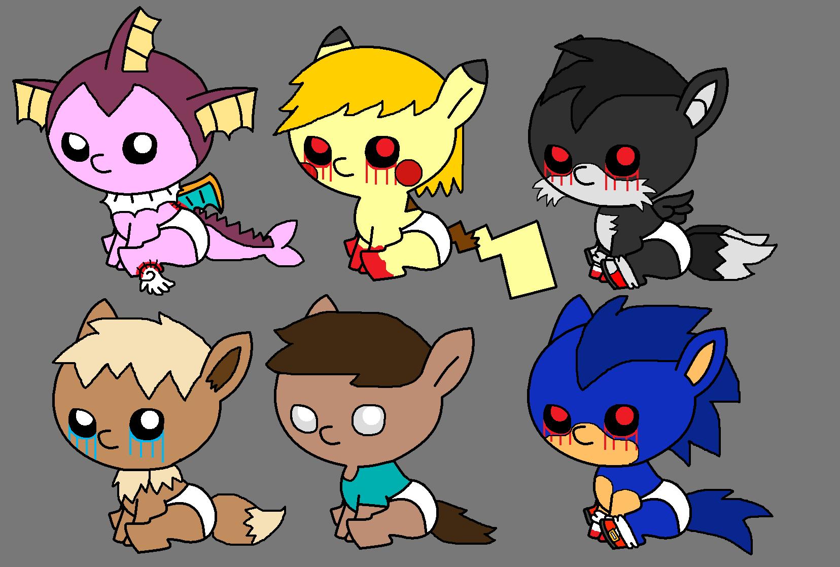 Creepypasta pony point adoptables set 2 by pokemonlpsfan on deviantart