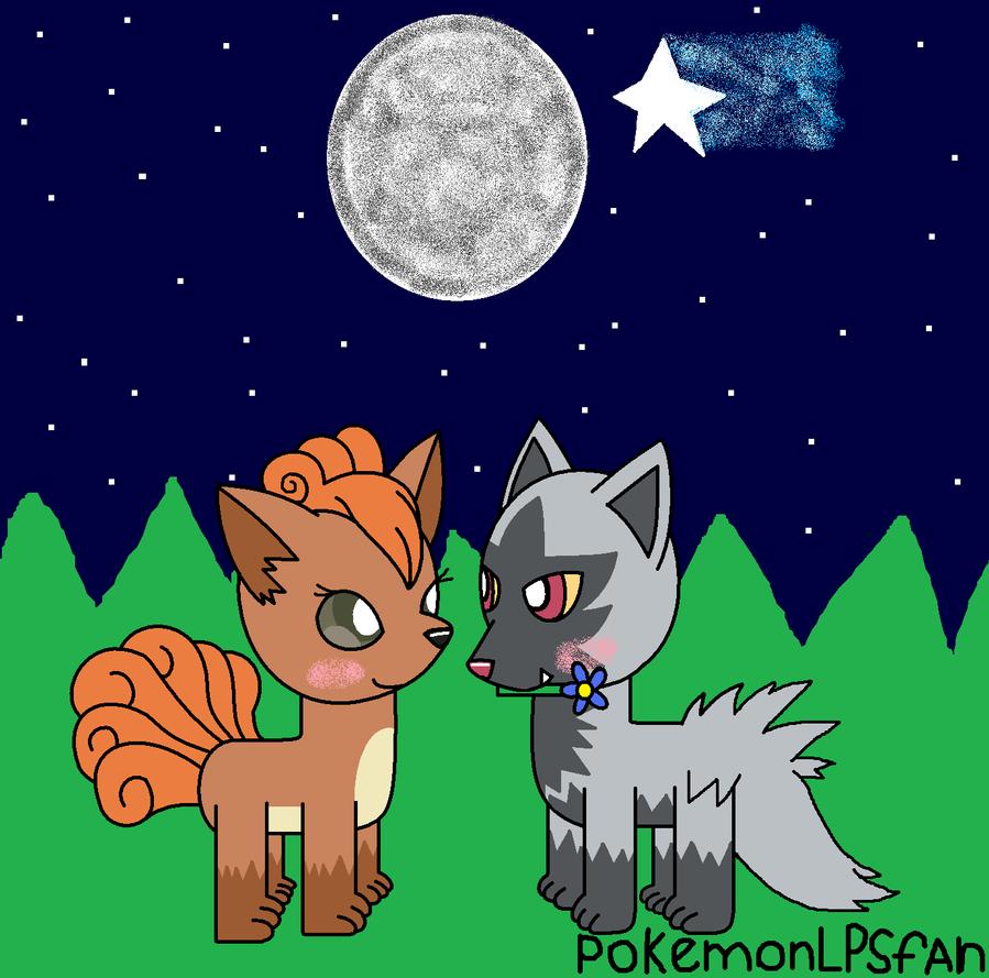 vulpix and poochyena in love by pokemonlpsfan