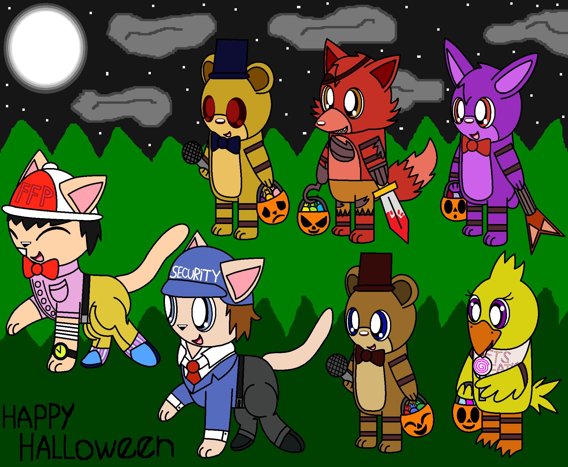 Fnaf Chibi Halloween Night by pokemonlpsfan on DeviantArt