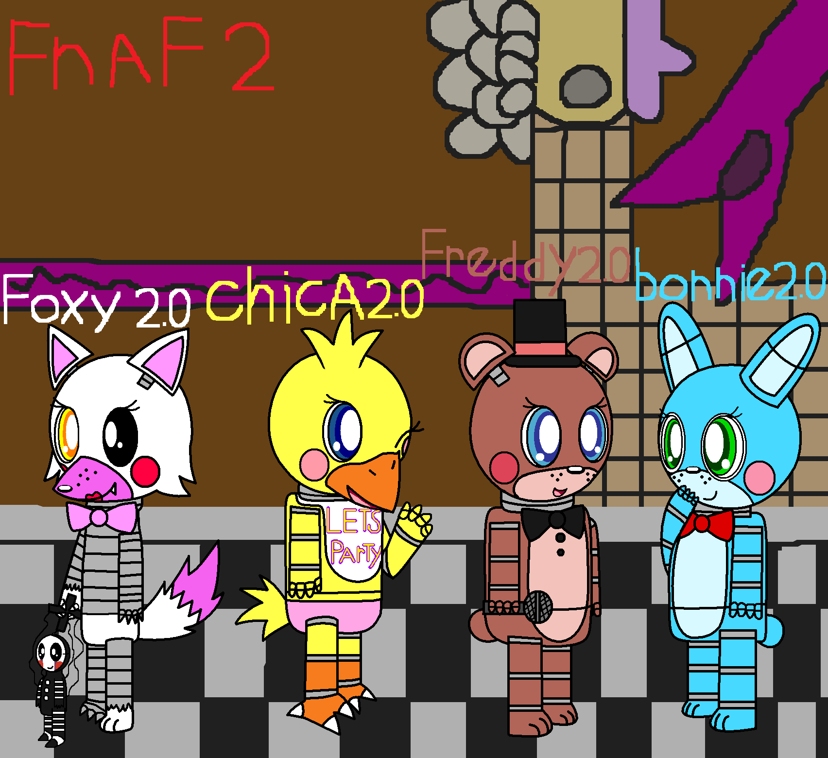 fnaf cute animatronics coloring pages - photo #46