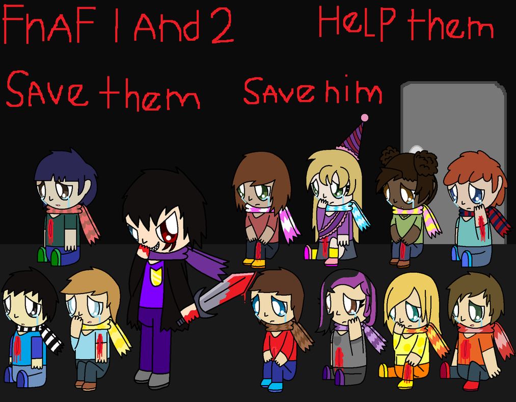 Fnaf 1 and 2. the murderer and his victims. by pokemonlpsfan