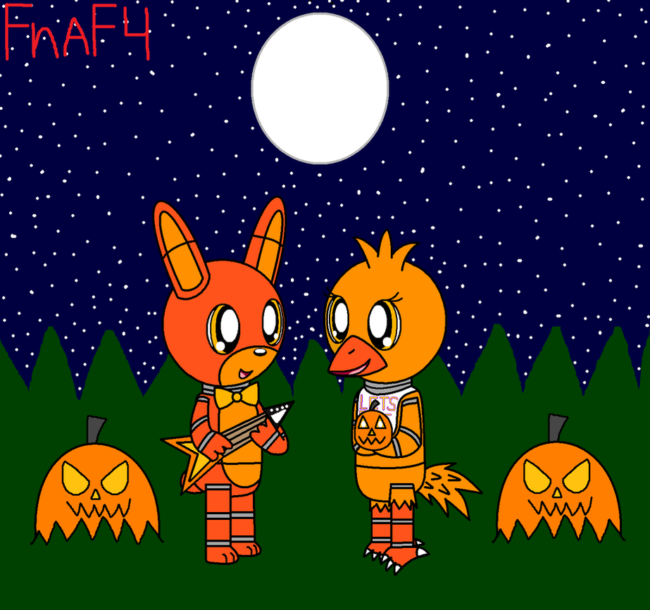 Fnaf 4 Chibi Jack O Bonnie And Jack O Chica by pokemonlpsfan