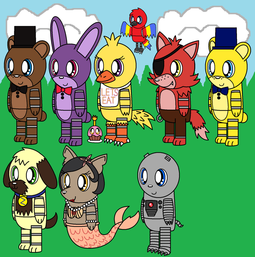 Fnaf World Fnaf 1 Adventure Animatronics By