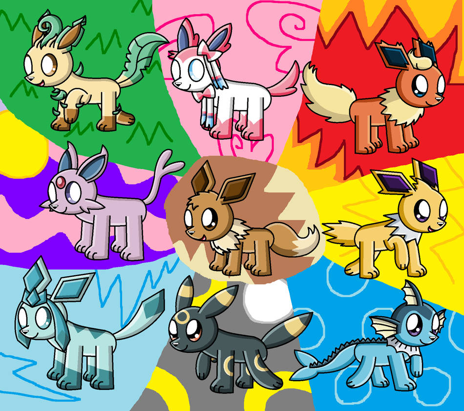 Chibi Eeveelutions by pokemonlpsfan on DeviantArt