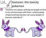 Toxiceon Pokedex Entry by pokemonlpsfan