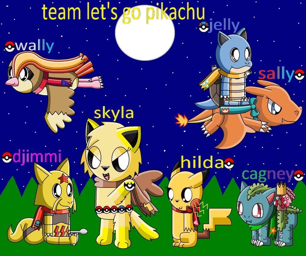 Pokemon Let's Go Pikachu Team Fully Evolved by pokemonlpsfan