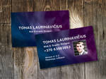 Space-Themed Business Card