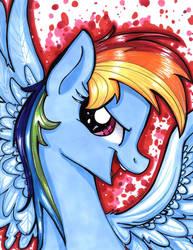 Rainbow Dash Portrait by frostykat13
