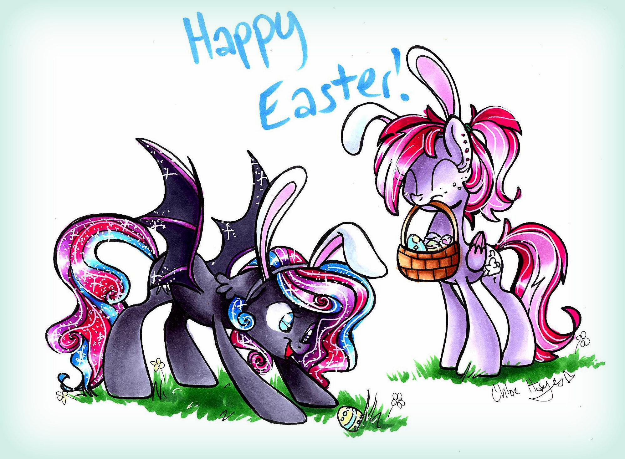 Easter Bunnies by frostykat13