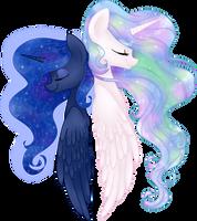 Celestia and Luna by frostykat13
