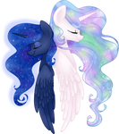 Celestia and Luna by frostykat13
