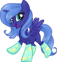Moony in Socks by frostykat13