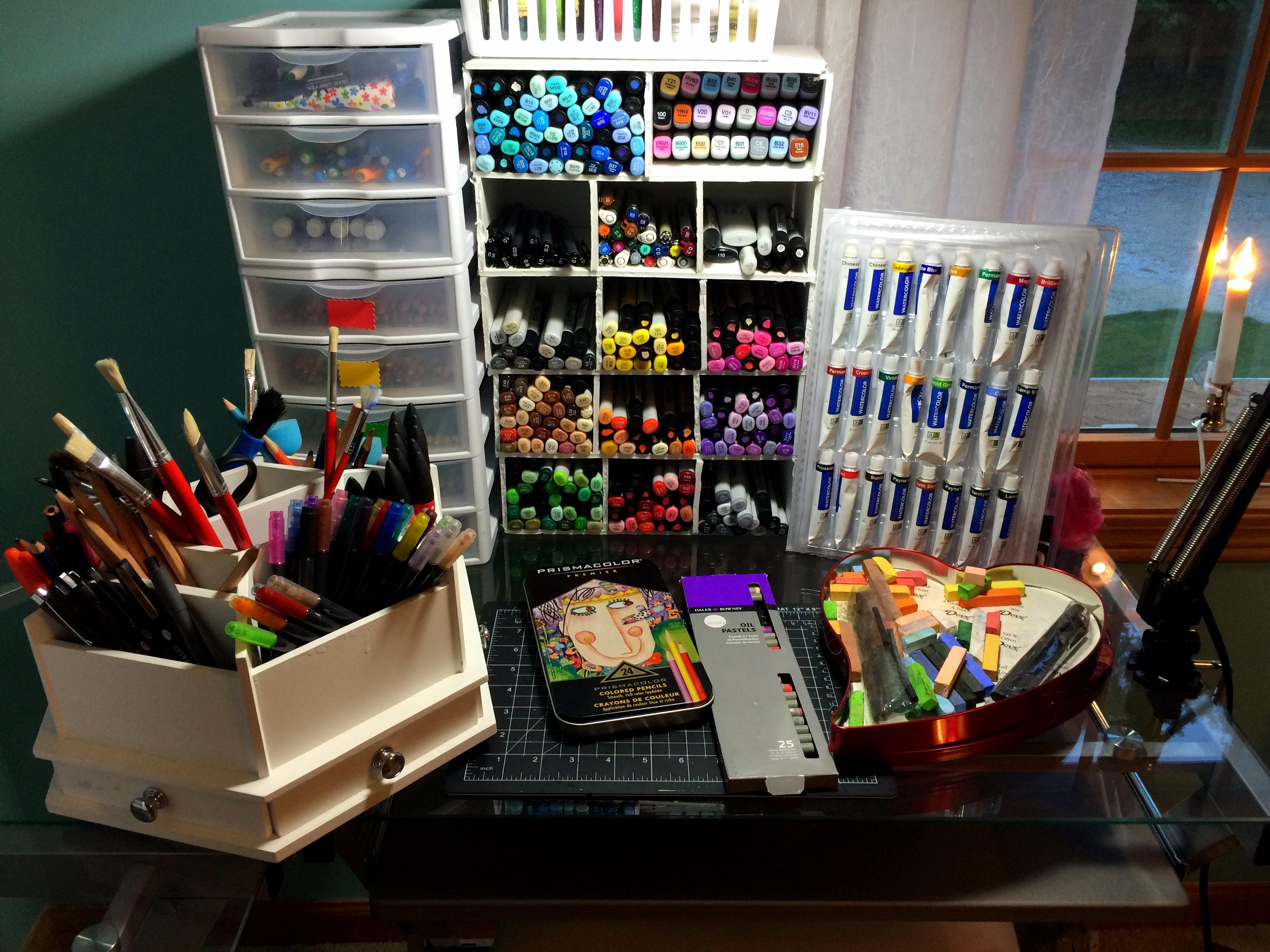 My Art Supplies by frostykat13 on DeviantArt