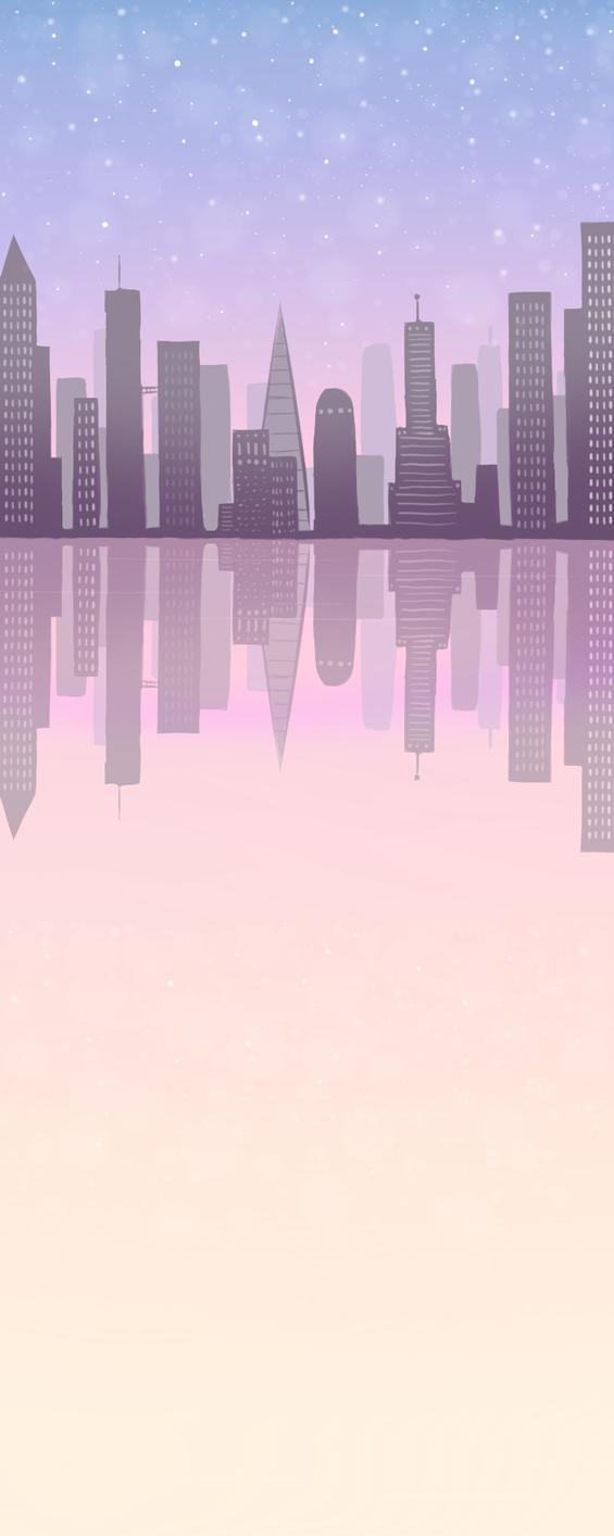 Pastel City Custom Box Background by frostykat13