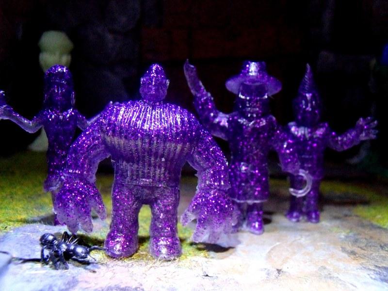 Purple glitter in clear resin. by Lee-Burbridge