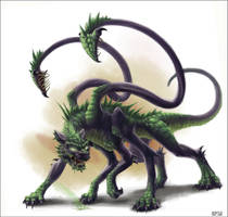 Half-Dragon Displacer Beast