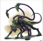Half-Dragon Displacer Beast