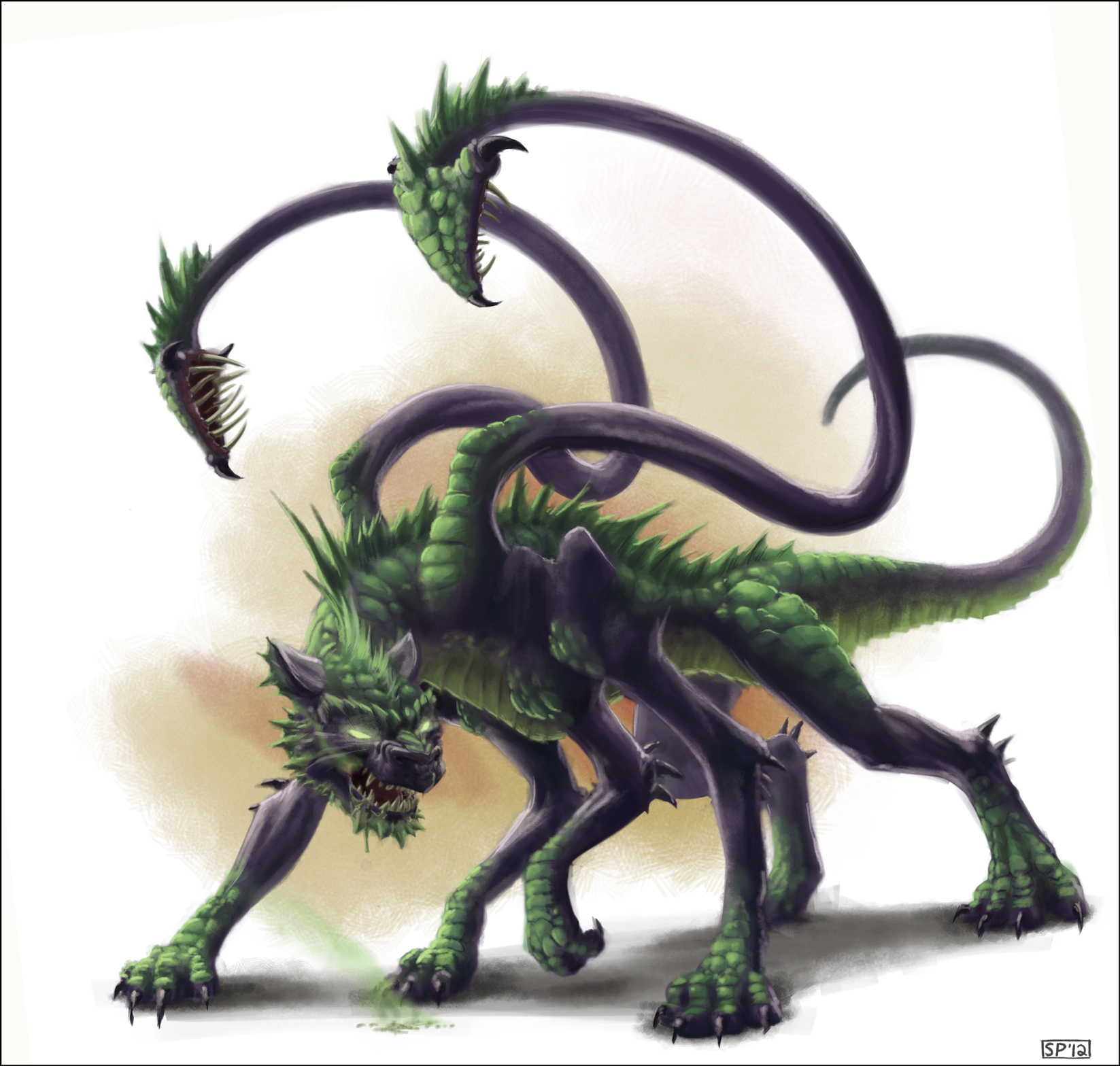 Half dragon beholder by spipes on deviantart half dragon displacer beast by spipes pronofoot35fo Choice Image