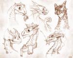 Baby Dragon Sketches, page 2!