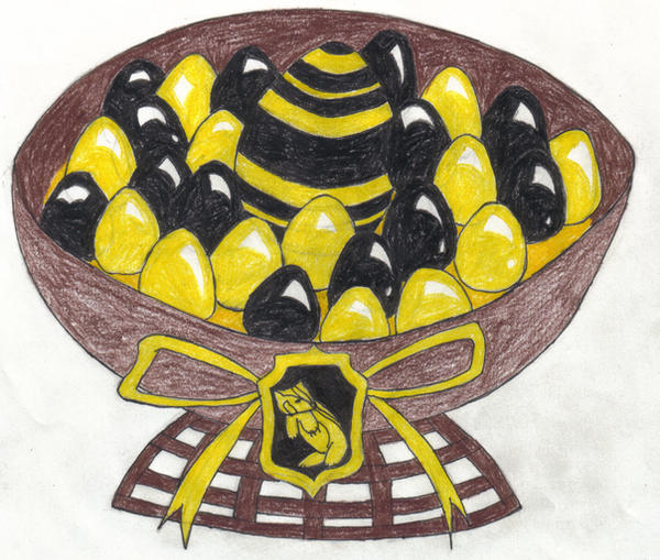 Hufflepuff House Easter Basket by angelcollina