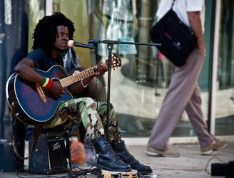 street musician by searchanangel
