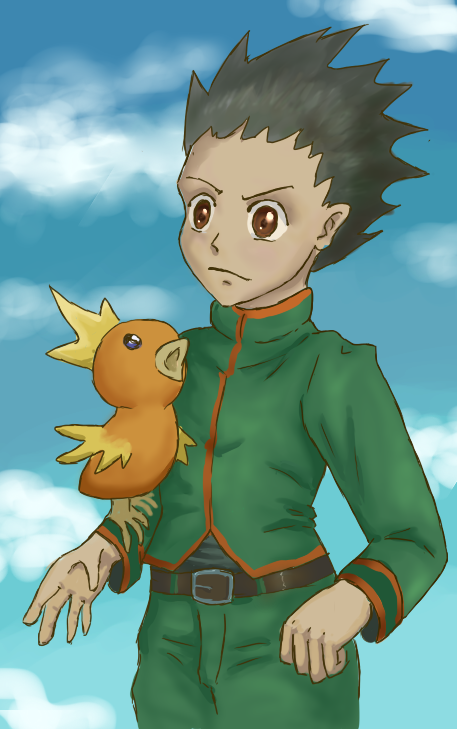 Gon and torchic by WhiteApocalipsys
