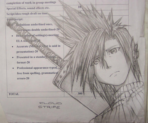 Cloud Strife by Nogardinmo