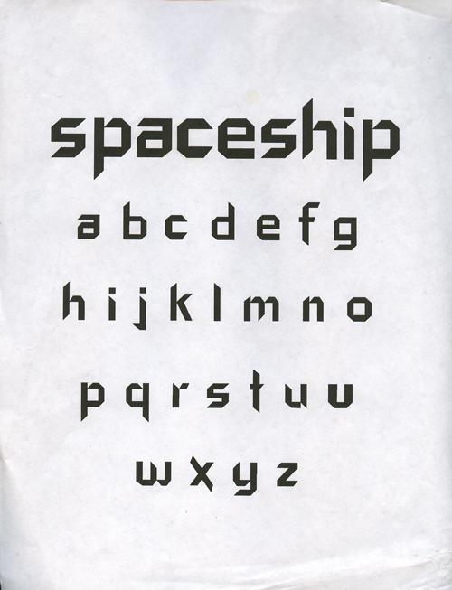 Spaceship Font by starscream45